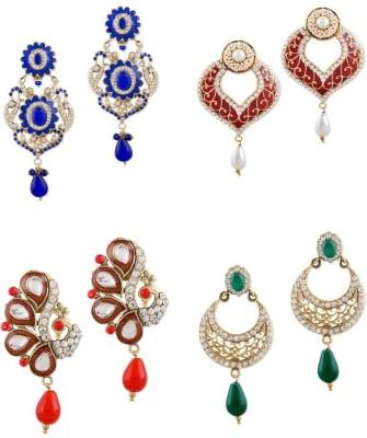 Buyclues RCCJ3433 Crystal Brass Earring Set