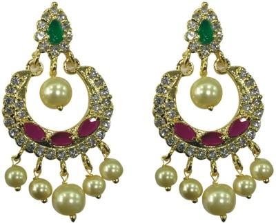 Sri Kapi Pearls FE128 Cubic Zirconia Alloy Chandbali Earring