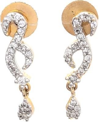 My Sara White Cubic Zirconia Brass, Copper Drop Earring
