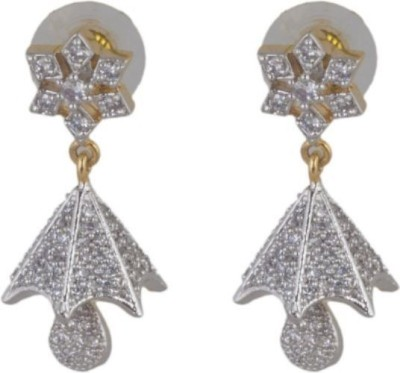 Joyra smarty Cubic Zirconia Brass Jhumki Earring