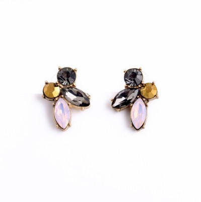 femnmas Glass Celebrity Style Fashion Zinc Stud Earring