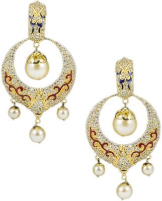 Paradise Delight Jhumki Brass, Copper Chandbali Earring