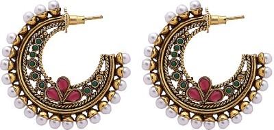 MadeinMyIndia Ethnic Charm Copper Hoop Earring