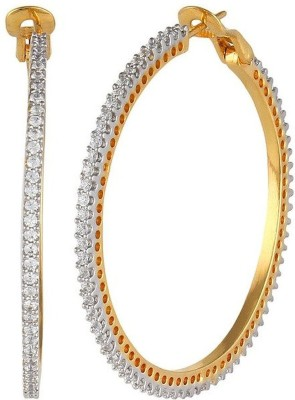 Affinity Jewellers Spring Sparkle Cubic Zirconia Alloy Hoop Earring
