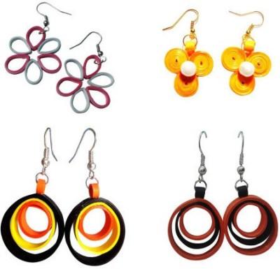 Prajwala Phani Enterprises Quilled Marvel Earrings Paper Earring Set