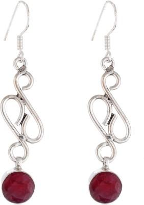 Aarohee Pink Spark Sterling Silver Dangle Earring