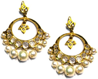 Amarsons Pearls Chand Bali Alloy Drop Earring
