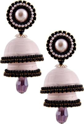 RR ENTERPRISES Hancrafted Single Stud White Double Jhumka Paper Jhumki Earring