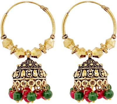 Gems N Pearls Traditional Brass Hoop Earring