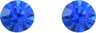 Diovanni Single Stone Stud Dark Blue Crystal, Alloy Stud Earring