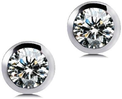 Silver Shoppee Angelic Crystal Metal Stud Earring