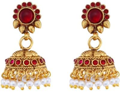 Jewlot Gorgeous Kundan 1300 Metal Jhumki Earring