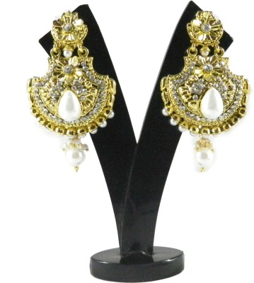 Tradeyard Impex Ethnic Cubic Zirconia Alloy Drop Earring