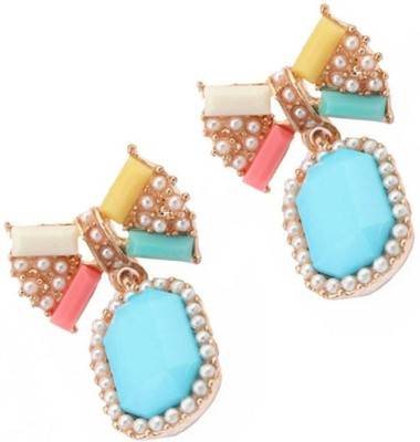 Jewel Touch Blue Playful Spree Party Alloy Drop Earring