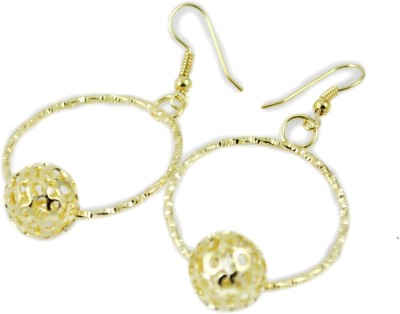 My Sara Earing White Color For Party Cubic Zirconia Copper, Brass Dangle Earring