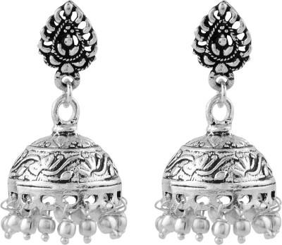 Silvery Metal Earring Jhoomki Brass, Copper Jhumki Earring