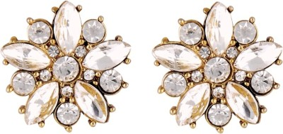Amroha Crafts Crystal Twinkling Alloy Stud Earring