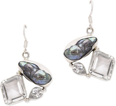 Watch Me Stylish Silver And Blue Topaz Sterling Silver Dangle Earring