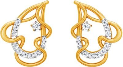 JacknJewel Enchanting Artistic Yellow Gold 18kt Diamond Stud Earring