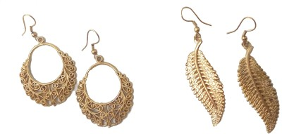 Gennext leaf-moon Alloy Chandbali Earring