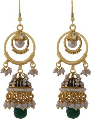 TM FASHIONS Spring Sparkle Brass Jhumki Earring
