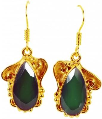 Riyo Ravishingstar Green Onyx Onyx Copper Dangle Earring