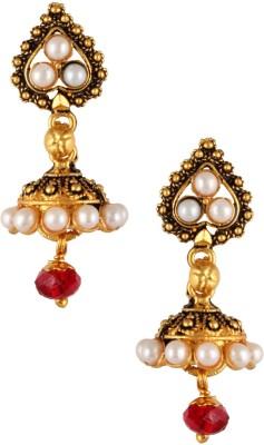 Fashionaya Pearl Jhumki Brass Jhumki Earring