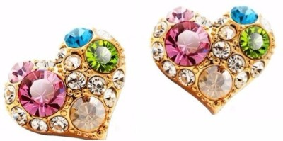 Roma Brothers HEART Swarovski Crystal Alloy Stud Earring