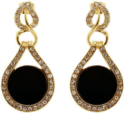 Saashis Closet Black Beauty Alloy Drop Earring