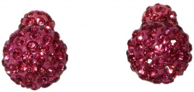 Enigma Rose Cubic Zirconia Alloy, Plastic Stud Earring
