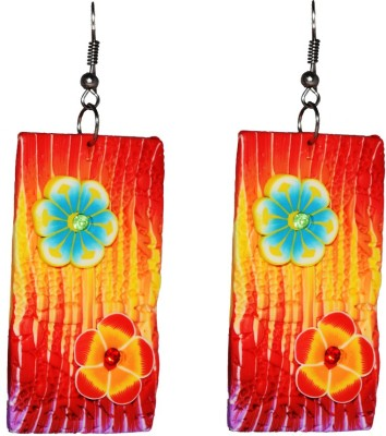 Harini Multicolor Floral Rubber Drop Earring