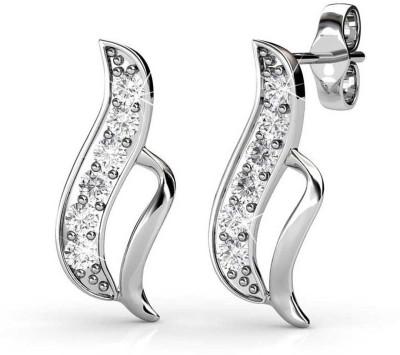 JDX Aaliyah Swarovski Zirconia Silver Stud Earring