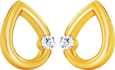 JacknJewel Enchanting Delicate Yellow Gold 18kt Diamond Stud Earring