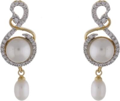 Jewel Planet New Designed Pearl Alloy Drop Earring