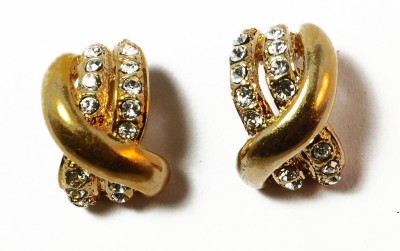 kanishq Alloy Huggie Earring, Plug Earring