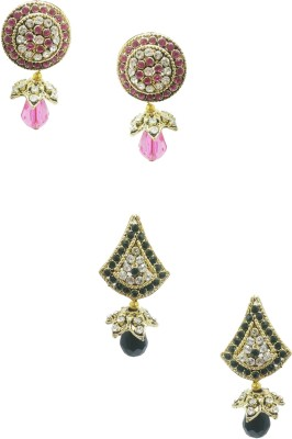 Taruni Combo Of 2. (Pink,Black) Alloy Earring Set