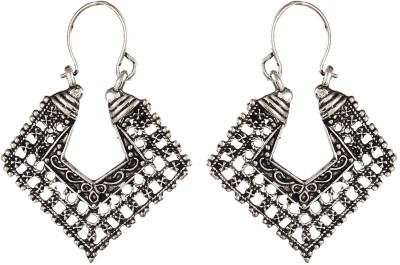 Crazytowear Oxidised Antique Alloy Hoop Earring