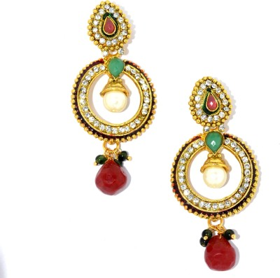 Opal Touch Bluetooth Copper Chandbali Earring