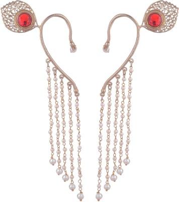 FashionFundamentals Antique Brass Cuff Earring