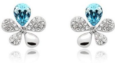 Silver Shoppee Designer Crystal, Cubic Zirconia Alloy Stud Earring