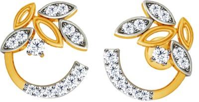 JacknJewel Artsitic Enchanting Yellow Gold 18kt Diamond Stud Earring