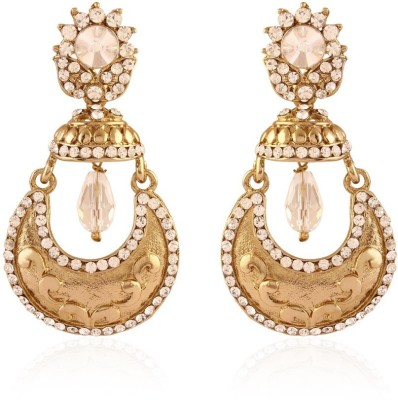 I Jewels Chand Jhumki Shaped Alloy Chandbali Earring