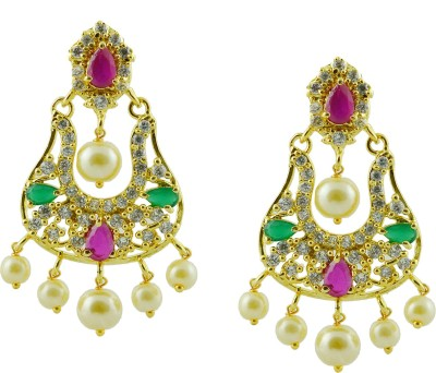 Maalyaa wedding spl Brass, Copper Drop Earring