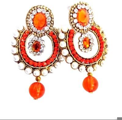 High Fashion Star Metal Chandbali Earring
