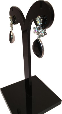 Chains n Charms Black Crystal Alloy Drop Earring