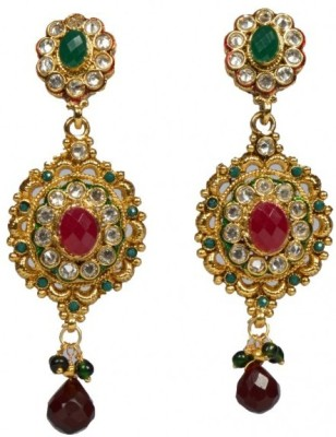 Kalaplanet Traditional Ethinic Golden Alloy Drop Earring
