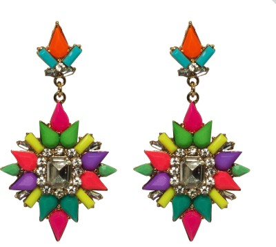 Sparkling Trinkets Multicolor Alloy Drop Earring