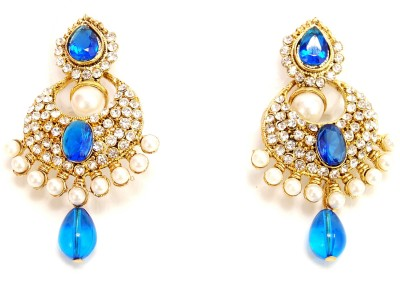 NM Products Gold Shine Metal Drop Earring
