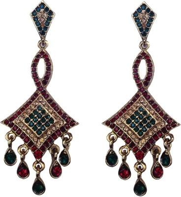Kundaan Designer Polki Traditional Crystal Copper Dangle Earring