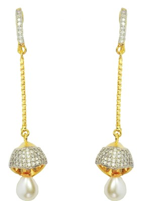 Enzy Chain & Jhumki Alloy Dangle Earring